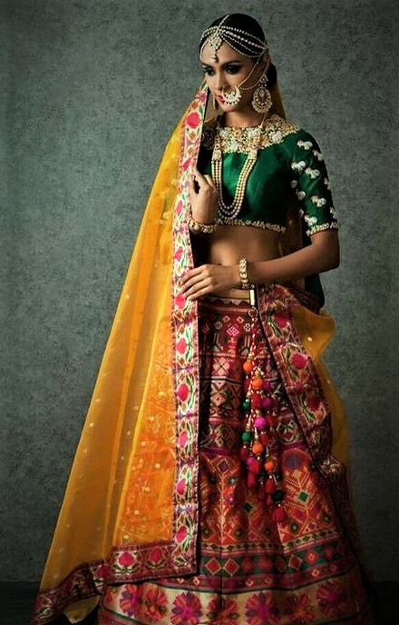 Rajastani Mehndi Dresses Designs for Wedding and ladies