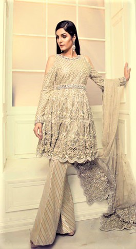 Latest Mehndi Dresses Short Shirts Designs 2018