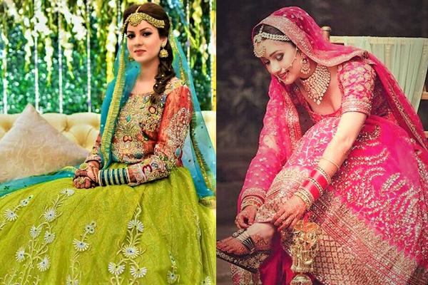 Vintage Unique Mehndi Dresses For Wedding