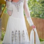 Mehndi Dresses in White Colour Pakistani wedding