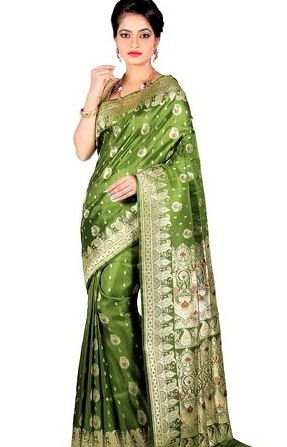 Best Mehndi Colour Sarees for Bridals