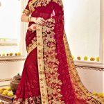 Bridal Mehndi Sarees Dresses Designs 2018