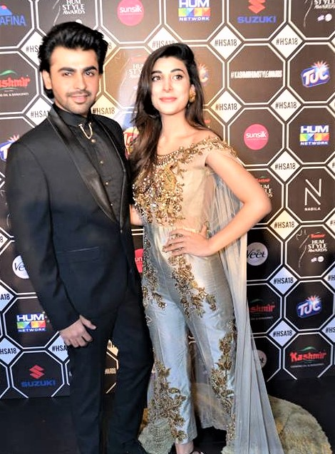 Farhan Saeed and Urwa Hocane Dresses at Hum Style Awards 2018