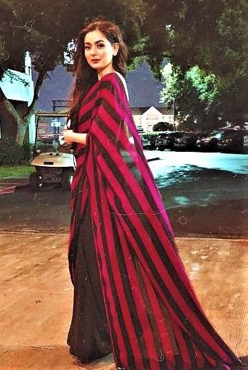 Hania Aamir Dresses SFK Conventional Saree Designs