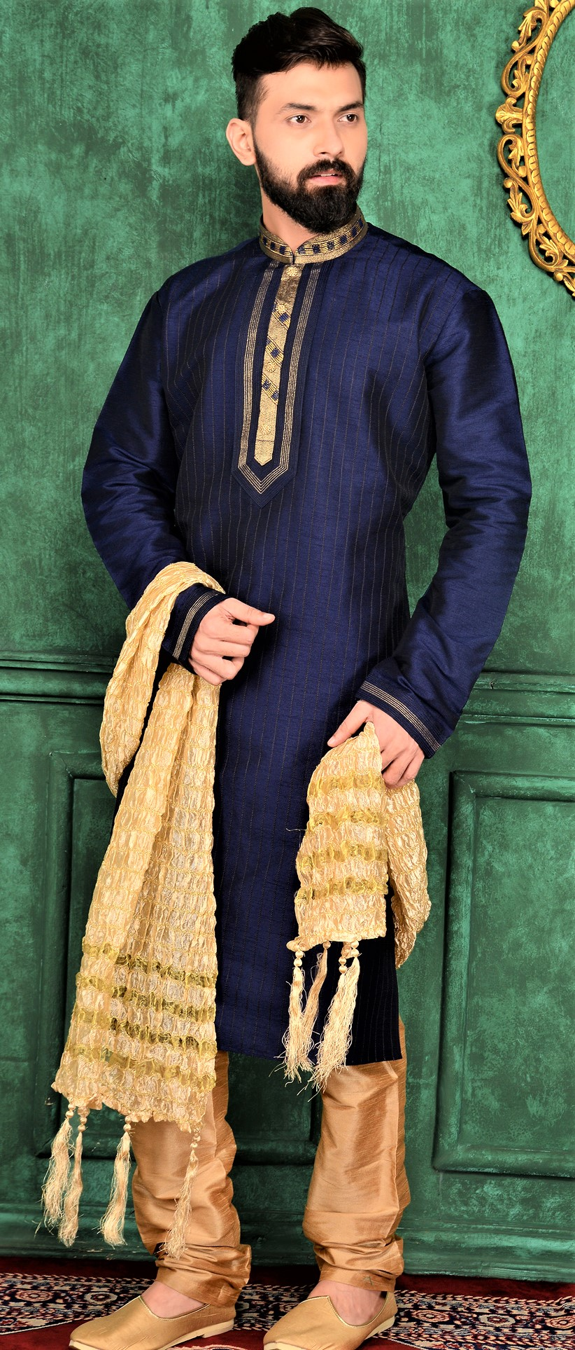Indian Mehndi Kurta Styles for Gents 2018