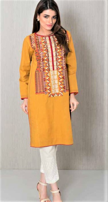 Latest Pakistani Mehndi Kurta Designs Ladies 2018