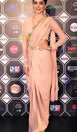 Mawra Hocane at Hum Style Awards 2018 Red Carpet Dress