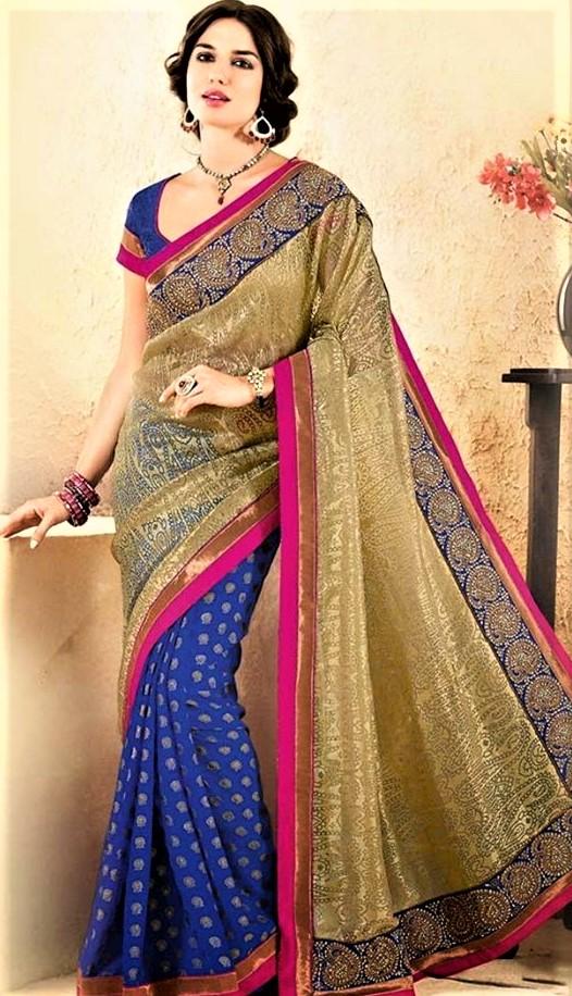 Mehndi Design Saree Simple Dresses 2018