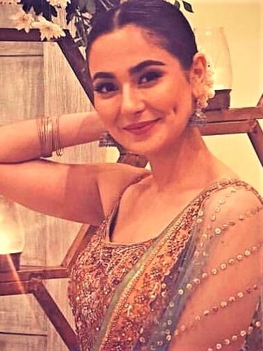 Pakistani Actress Hania Aamir and Kareem Farooq Wedding Dresses