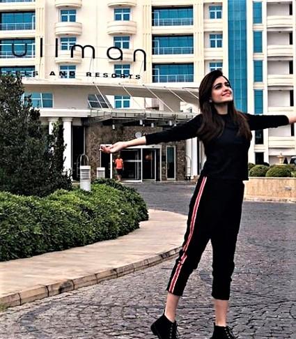 Pakistani Actress Sumbul Iqbal Vocation in Baku