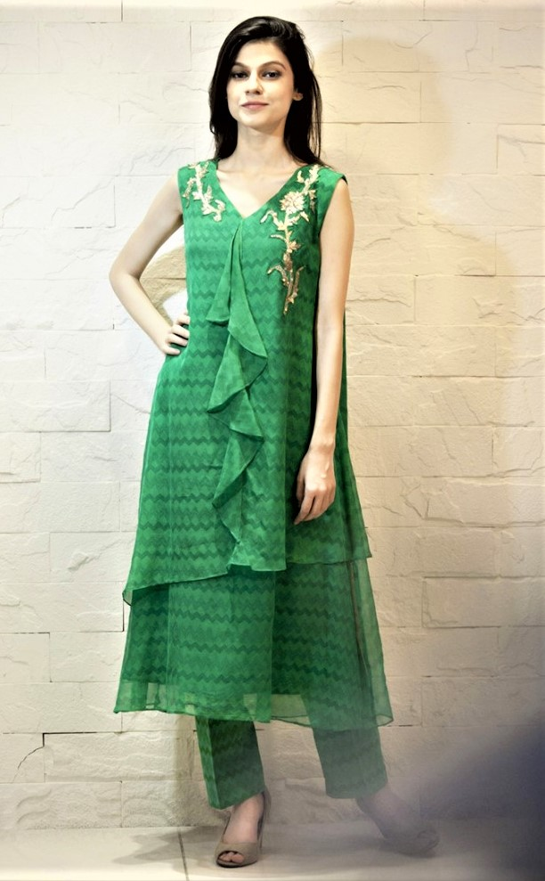 dark green mehndi dresses