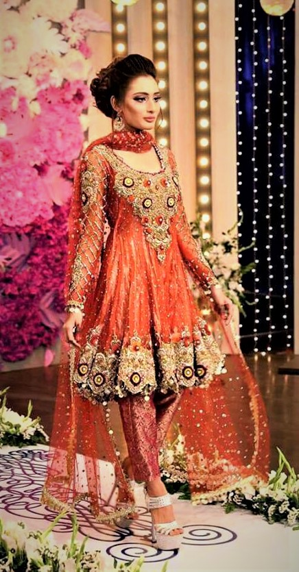 Latest Mehndi Dresses 2018 Pakistani Girls