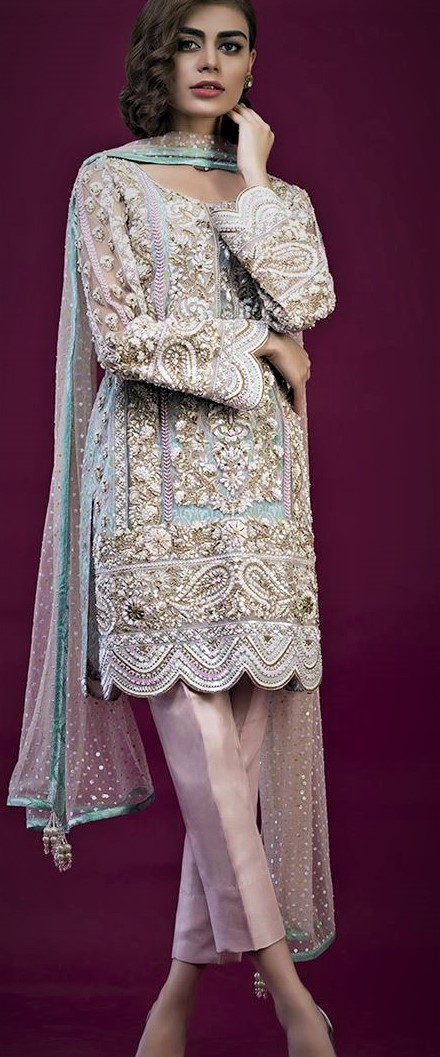 Nomi Ansari Mehndi Dresses 2018