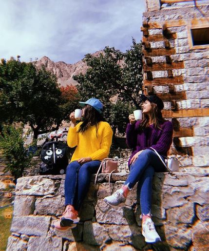 Aiman Khan New Photos Spending Vocation in Hunza velly