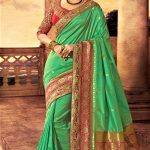 Best Mehndi Green Sarees Designs