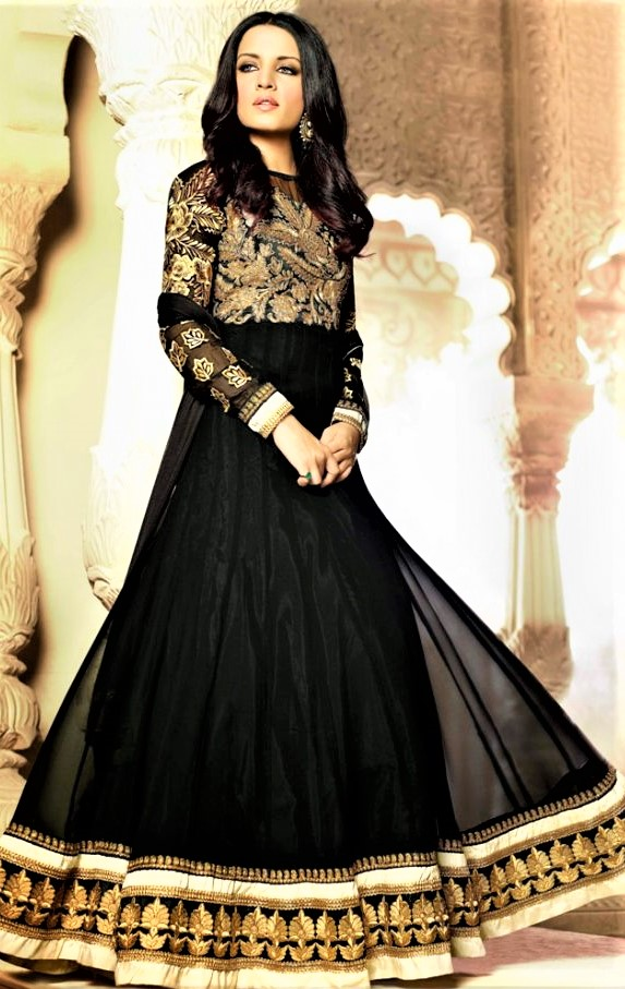 Black Long Frocks New Style Mehndi Dresses