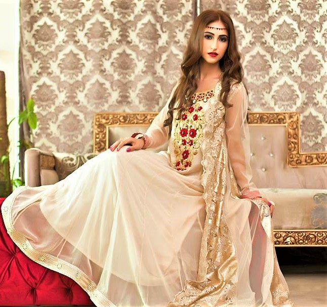 Frock Style Bridal Dresses for Mehndi