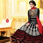 Frock Style in Black Colour Mehndi Dresses