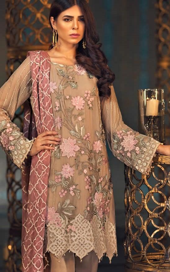 Jazmin Chiffon Collection 2018 Mehndi Dresses