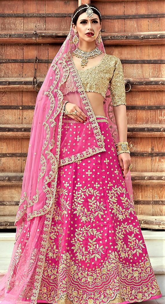 Magenta Mehndi Lehenga Colour Combinations Bridal Dresses