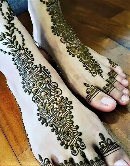 Mehndi Designs 2019 Foot » Mehndi Dresses 2020