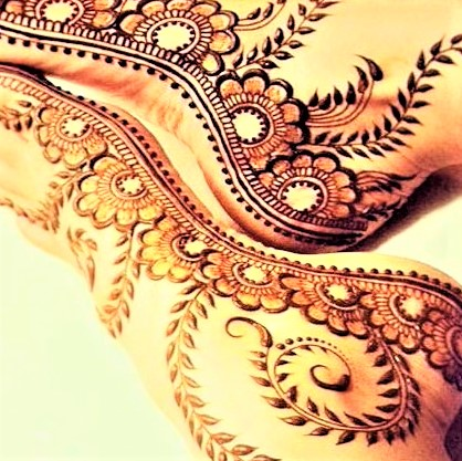 Mehndi foot design patterns