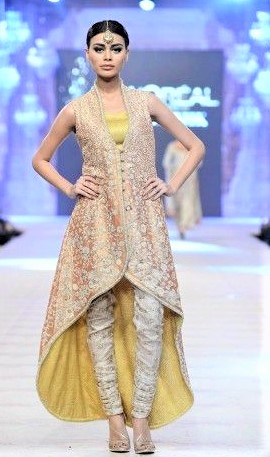 Mehndi Dresses: Angrakha Frock Style Short