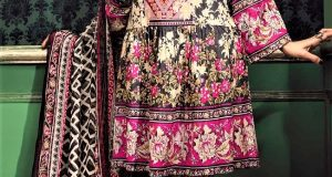 Mehndi Dresses Frock Style 2018 Lawn designs