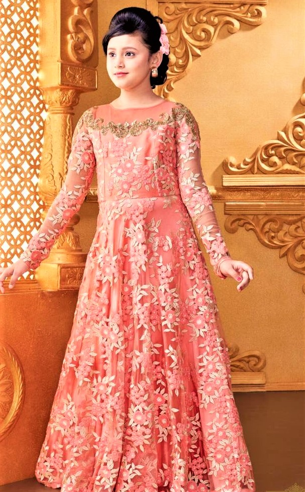 Mehndi Dresses: Frock Style In Net Design