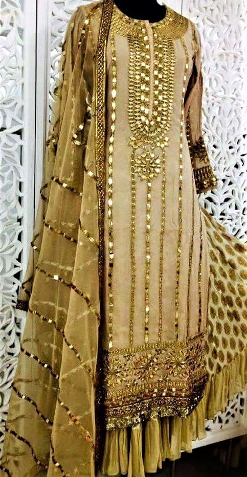 Mehndi Dresses Gota Kinari Salwar Kameez