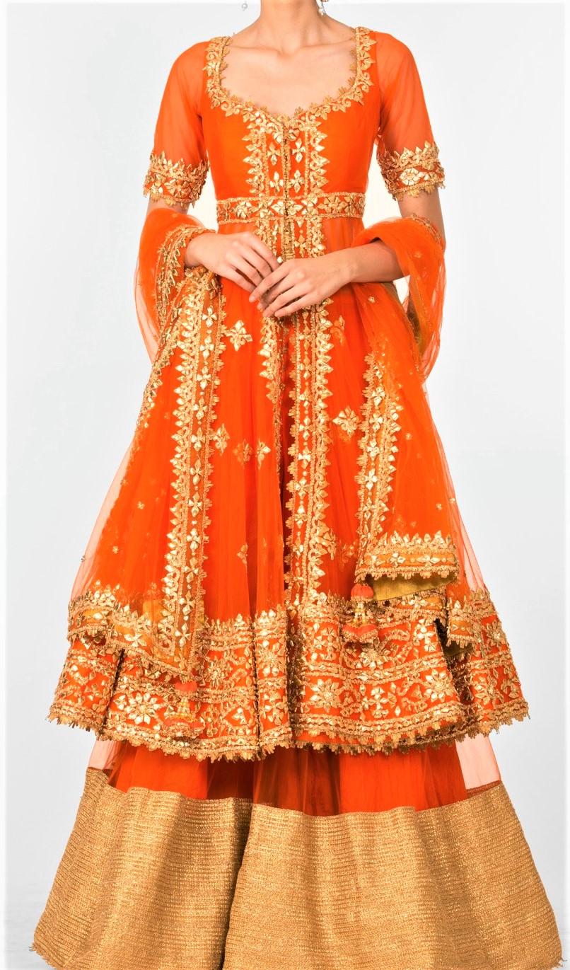 Mehndi Dresses Gota Patti Sharara Designs 2018-19