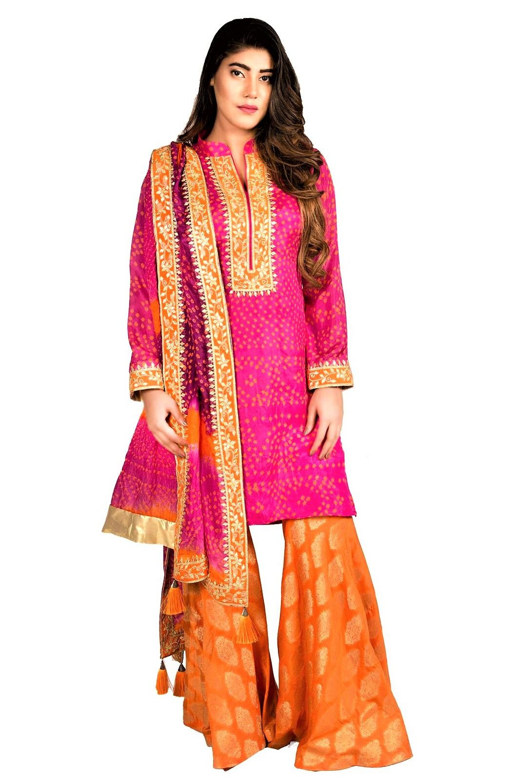 Mehndi Dresses Gota Patti Work on Kurtis