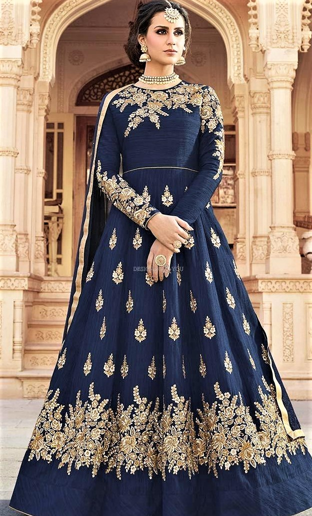 Mehndi Dresses New Style Long Frock Suit