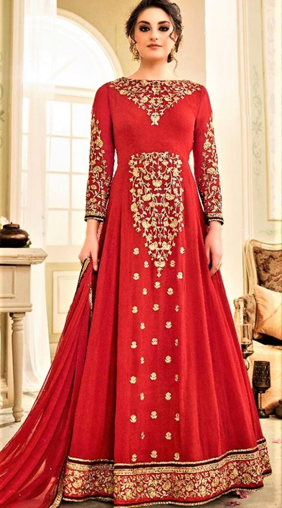 Mehndi Dresses: Airline Frock Style 2018