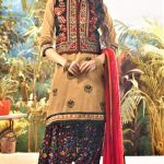 Mehndi Dresses Punjabi Suit brown Colour