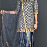 Mehndi Dresses New Punjabi Suit Grey Colour Combination