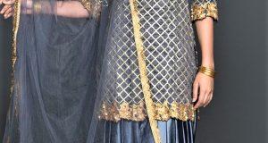 Mehndi Dresses New Punjabi Suit Grey Colour Combination