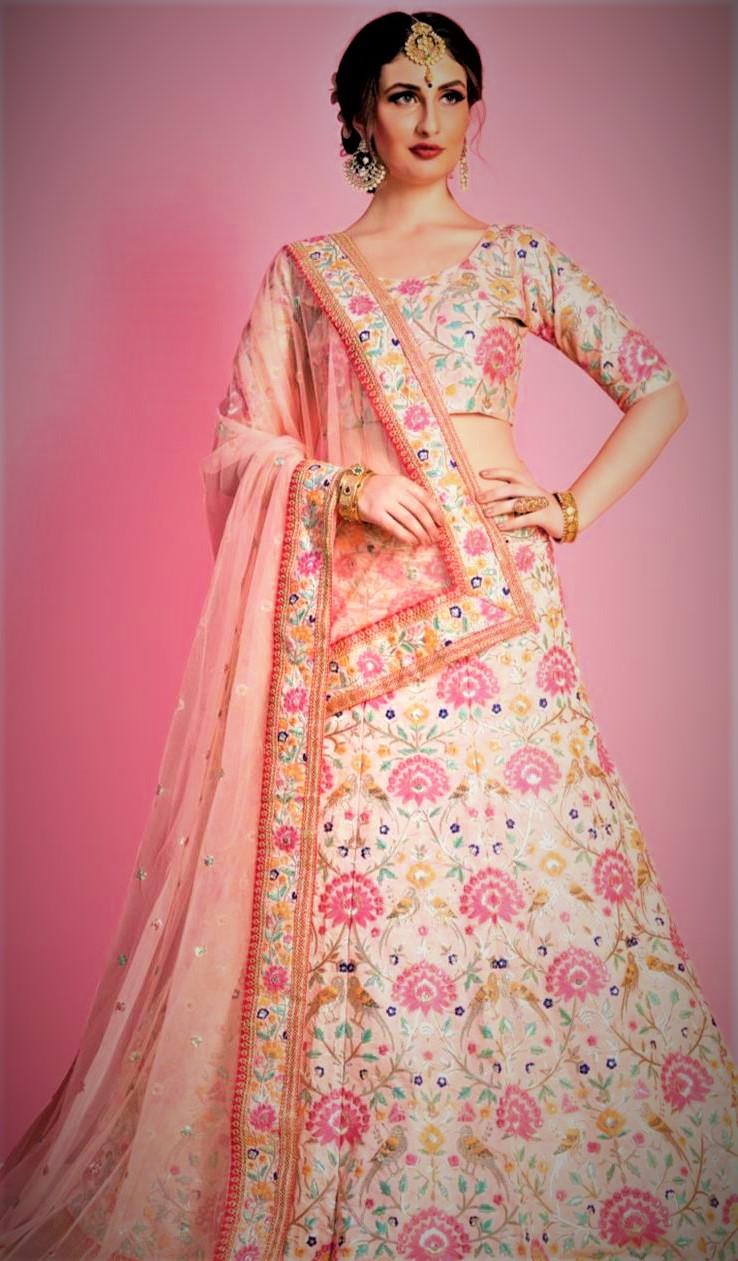 Pastel Mehndi Lehenga Colour Combinations Bridal Dresses