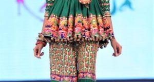 Short Frock Angrakha Style Mehndi Dresses
