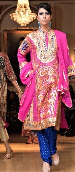 Mehndi Dresses Gota Kinari by Maria Zohaib