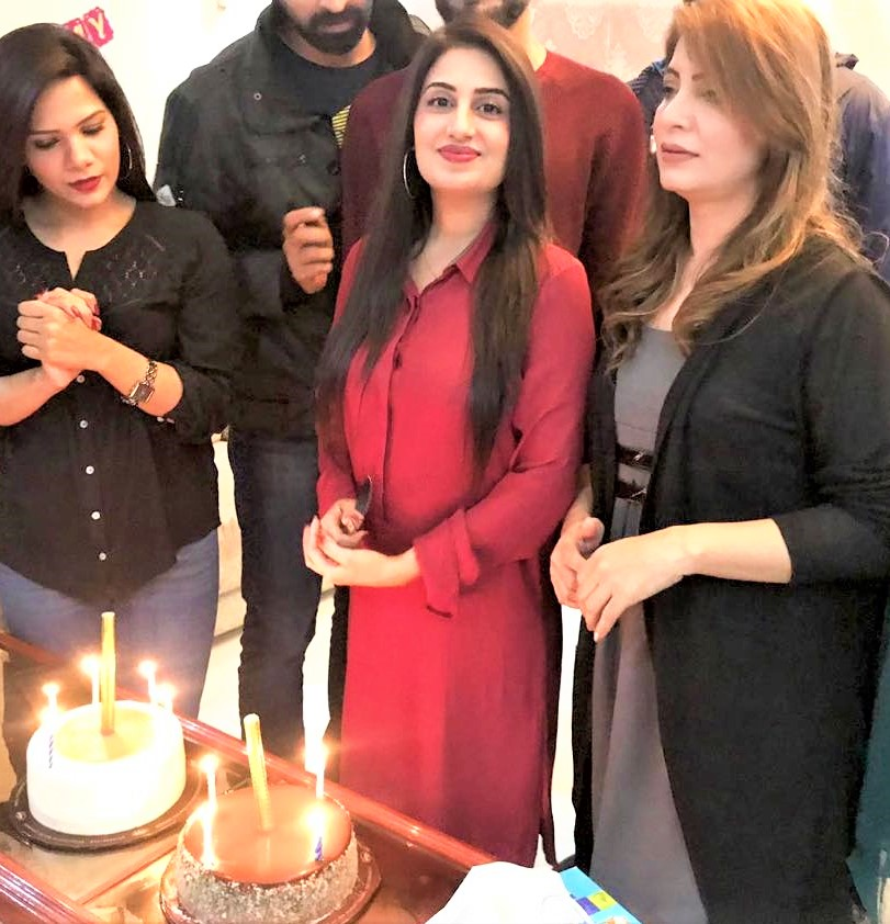 Iqrar ul Hassan Second Wife Celebrating Birthday Pictures