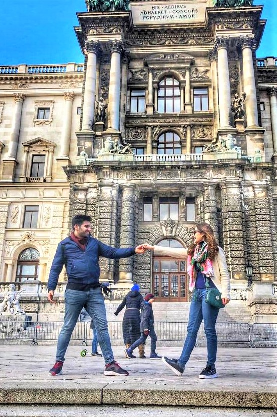 Pakistani Actress Aiman Khan Husband Muneeb Butt Holidays in Vienna Austria