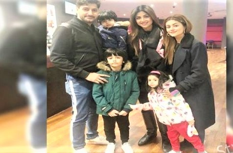 Syed Jibran Wife and Family Photo with Shilpa Shetty