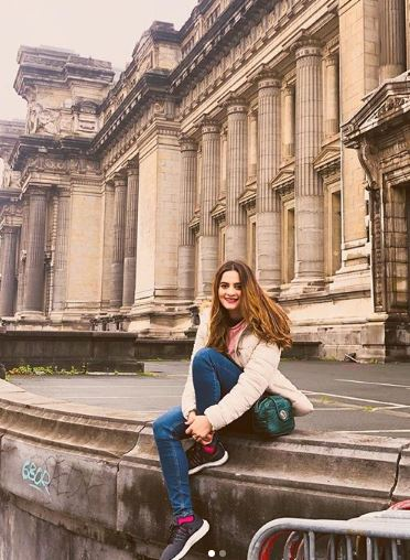 Aiman Khan and Husband Muneed Butt Spending Vocation in Brussels Belgium