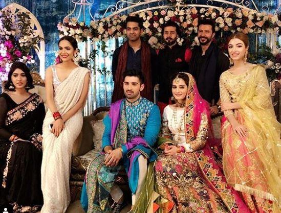 Faizan Khawaja Wedding Pics of Aineebs Mehndi