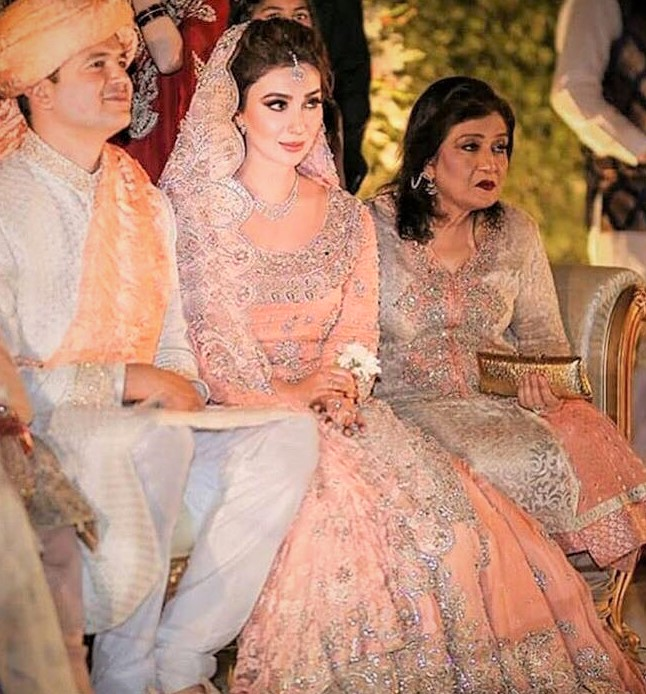 Ayesha Khan Mehndi Dresses on Wedding