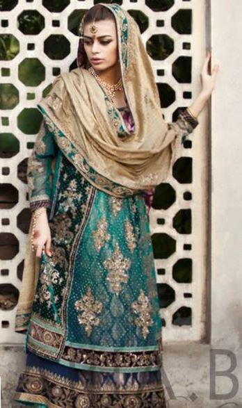 3bd1a3fe9b720 Best Maria B Mehndi Dresses 2019-2020 » Mehndi Dresses   Pakistani 2019