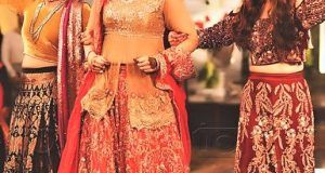 lehnga choli Brides Dresses for Mehndi Function
