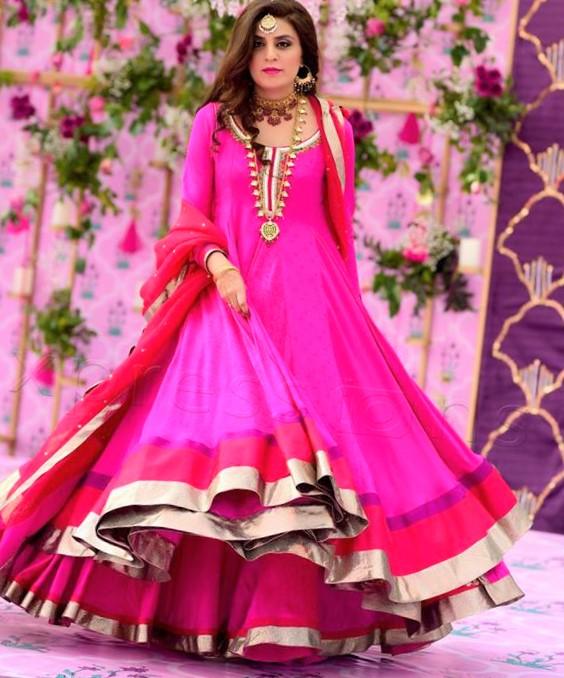 Frock New Mehndi Dresses 2019