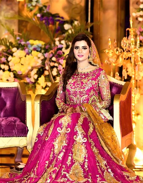 purple Brides Dresses for Mehndi Function